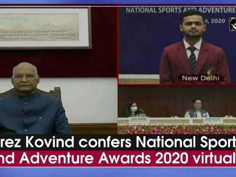 Prez Kovind confers National Sports and Adventure Awards 2020 virtually