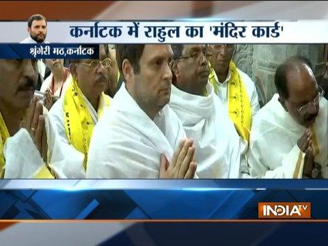 Karnataka: Congress President, Rahul Gandhi visits Sringeri Mutt in Chikmagalur