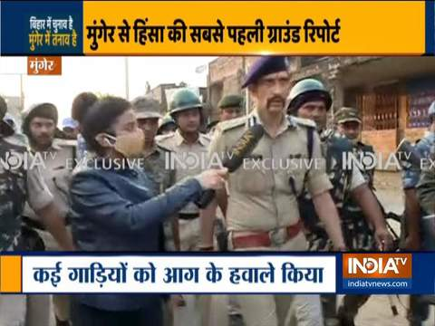 Munger Firing: Police conduct flag march in Munger after a mob vandalised SDO & SP office
