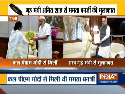 पीएम मोदी से मुलाकात के बाद आज गृहमंत्री अमित शाह से ममता बनर्जी ने की मुलाकात
