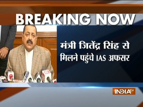 Have noted down all points made: MOS PMO Jitendra Singh after meeting Delhi govt IAS officers