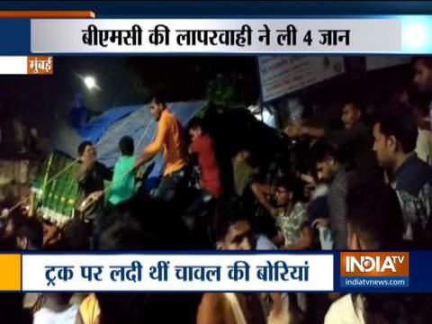मुंबई में ट्रक पलटने से 4 की मौत, 1 घायल
