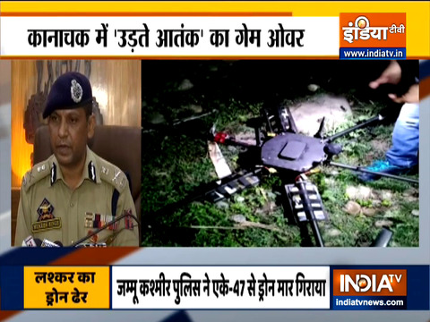 Drone with 5kg IED shot down by police in Jammu