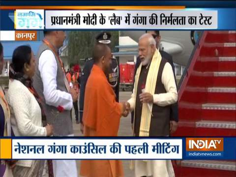 PM Modi arrives in Kanpur to chair National Ganga Council meet