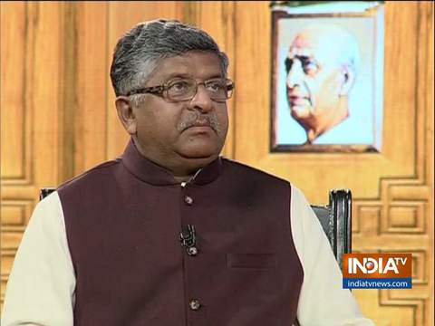 Union Minister Ravi Shankar Prasad in Aap Ki Adalat (Election Special)