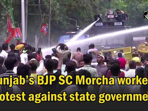 Punjab's BJP SC Morcha workers protest against state government