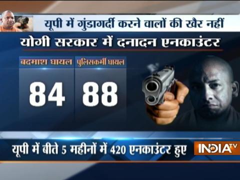 Uttar Pradesh police conduct 420 encounters in 6 months