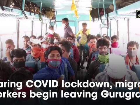 Fearing COVID lockdown, migrant workers begin leaving Gurugram