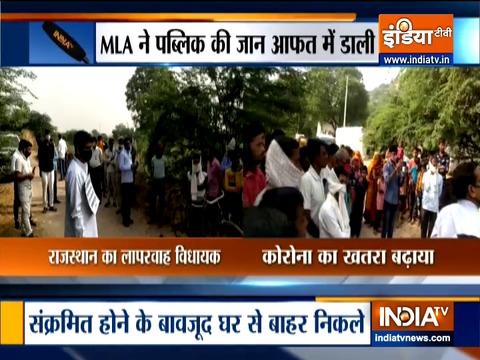 राजस्थान में एक COVID-19 पॉजिटिव विधायक गले में तख्ती टांगकर सरेआम घूमे