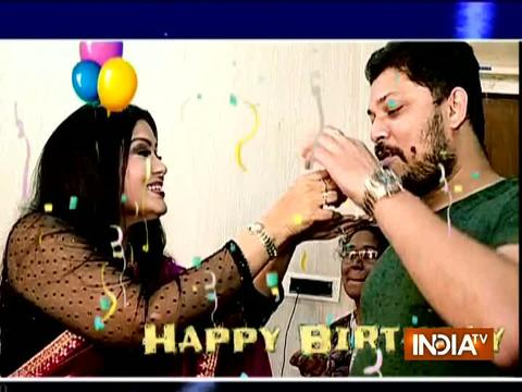 Watch birthday celebration of veteran actress Sudha Chandran