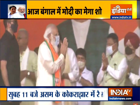 PM Modi to address two rallies in Assam and one in Bengal today