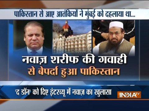 Nawaz Sharif admits Pak terrorists involvement behind 26/11 Mumbai attacks