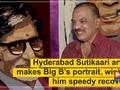 Hyderabad Sutikaari artist makes Big B's portrait, wishes him speedy recovery