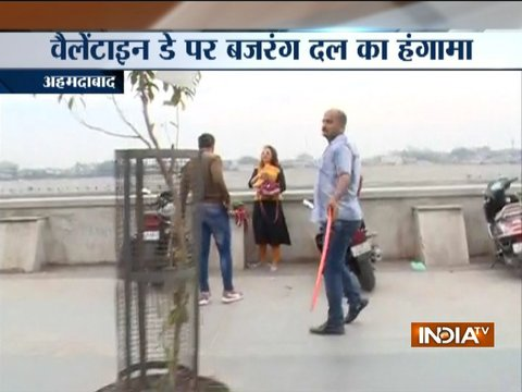 Bajrang Dal activists harass couples at Sabarmati Riverfront in Ahmedabad