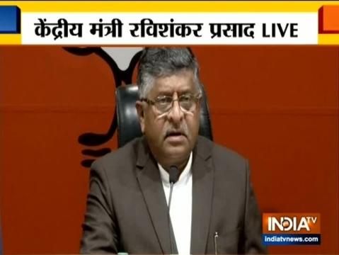 कांग्रेस देश का मनोबल गिरा रही है: रविशंकर प्रसाद