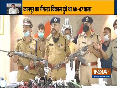 After killing the 8 policemen on July 3 the accused also looted the arms of our policemen: UP ADG