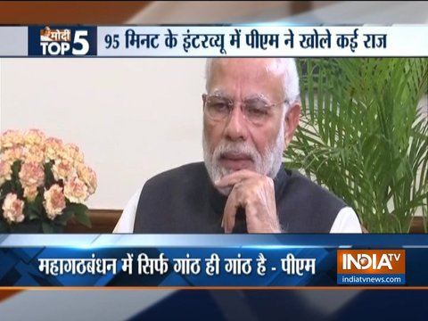 Top points from PM Modi's interview