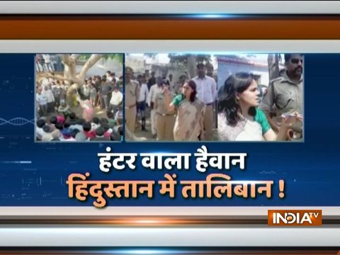 UP: Husband beats woman in public on Panchayat's order