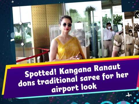 Spotted! Kangana Ranaut dons traditional saree for her airport look