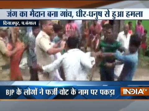 West Bengal: BJP-TMC workers clash during civic body poll in in South Dinajpur