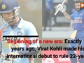 Exactly 11 years ago, Virat Kohli made his international debut to rule 22-yards
