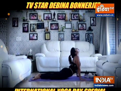 Learn surya namaskar with TV actress Debina Bonnerjee