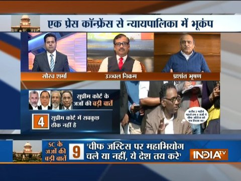 Prashant Bhushan reacts to charges levelled against CJI by 4 SC judges