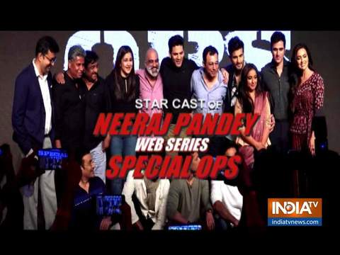 The special star cast of Neeraj Pandey's web series 'Special OPS' interacts with media
