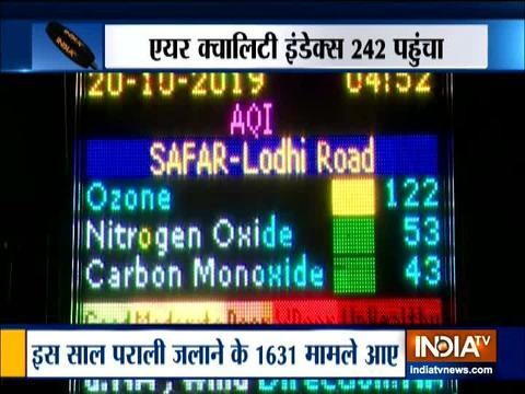 दिल्ली में वायु प्रदूषण की स्थिति ख़राब बनी हुई है