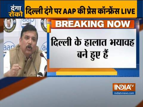 Sanjay Singh blames BJP for violence in Delhi