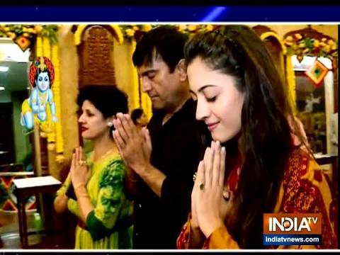 TV actress Aditi Sharma take blessing from Lord Krishna