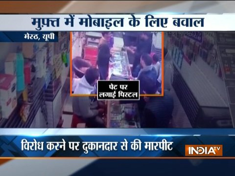 Goons scuffle with mobile shop owner in Meerut