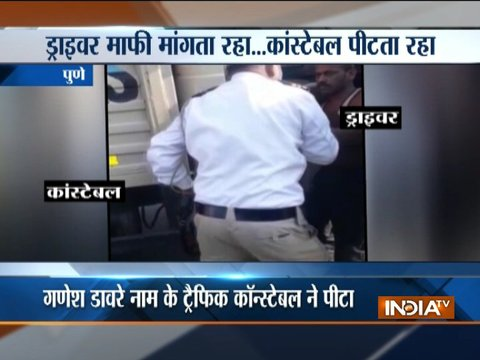 Traffic policeman assault pick-up driver in Pune