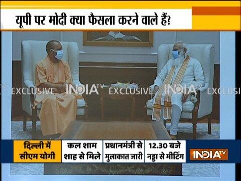 Uttar Pradesh CM Yogi Adityanath Meets PM Narendra Modi Ahead Of Polls