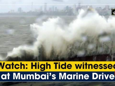 Watch: High Tide witnessed at Mumbai's Marine Drive