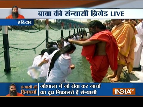 Baba Ramdev gives 'Yoga Deeksha' to 90 religious scholars in Haridwar