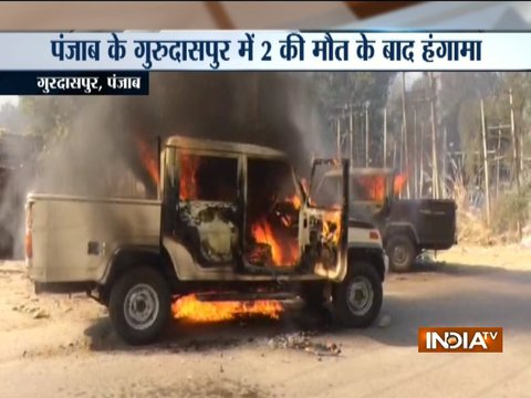 Punjab: Angry residents burn cars, shops in Gurdaspur after two killed in road accident