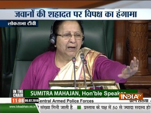 Chaos in Lok Sabha over death of Army jawans along LoC in Jammu and Kashmir