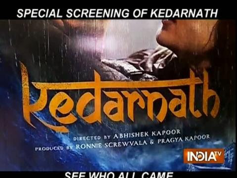 Kedarnath Special Screening: Sara Ali Khan, Ananya Panday, Janvhi Kapoor and others attend