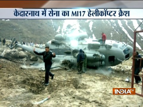 Uttarakhand: Mi-17 helicopter catches fire while landing near Kedarnath temple, 2 injured