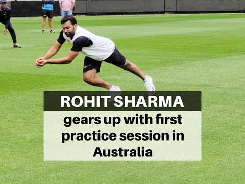 AUS vs IND: Rohit Sharma hits the nets ahead of Sydney Test