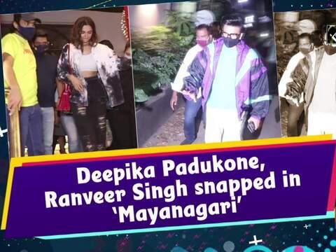 Deepika Padukone, Ranveer Singh snapped in 'Mayanagari'
