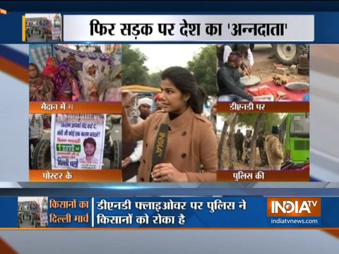 Traffic affected at DND highway due to farmers' agitation