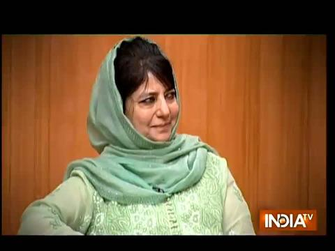 Mehbooba Mufti in Aap Ki Adalat: 'Talks with Pak only way forward to resolve Kashmir issue'
