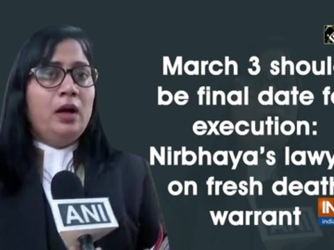 March 3 should be final date for execution: Nirbhaya's lawyer on fresh death warrant