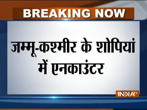 Jammu and Kashmir: Terrorist encounter underway in Shopian