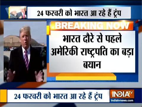 भारत दौरे से पहले डोनाल्ड ट्रंप का बड़ा बयान कहा कि इस दौरे में व्यापारिक समझौता नहीं करेंगे