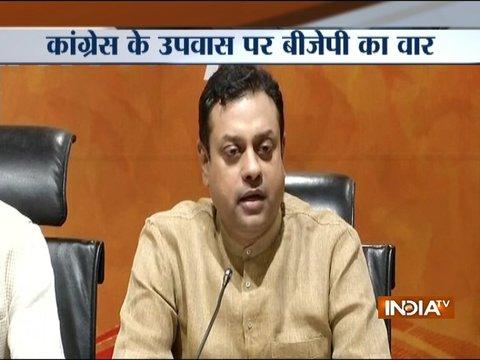 Congress leaders' fast at Rajghat a farce: BJP's Sambit Patra