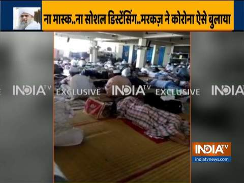 Footage from inside Nizamuddin Markaz shows no social-distancing rules were followed