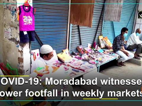 COVID-19: Moradabad witnesses lower footfall in weekly markets